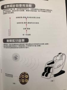 田倉510按摩椅,音樂律動功能說明